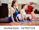 cute hispanic women practicing... | Shutterstock . vector #167027126