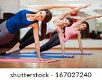 beautiful group of women... | Shutterstock . vector #167027240