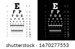 poster for vision testing in... | Shutterstock .eps vector #1670277553