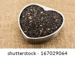 uncooked brown rice grains in... | Shutterstock . vector #167029064