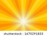 comic yellow sunbeam background....   Shutterstock .eps vector #1670291833