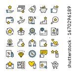 loyalty program. vector set of...   Shutterstock .eps vector #1670296189