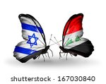 two butterflies with flags on... | Shutterstock . vector #167030840