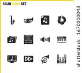 music icons set with forward...