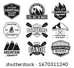 vintage canoe kayaking logos... | Shutterstock . vector #1670311240