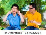 Chinese Asian Father Talking T...