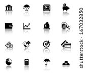 finance and banking icons | Shutterstock .eps vector #167032850