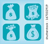 money bag icon   four variations