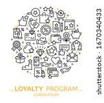 loyalty program. vector... | Shutterstock .eps vector #1670340433