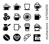 coffee icon set on white....