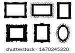 set of black silhouettes... | Shutterstock .eps vector #1670345320