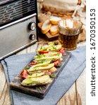 bruschetta set for wine.... | Shutterstock . vector #1670350153