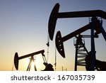 several pumping unit in the... | Shutterstock . vector #167035739