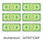 cartoon dollar banknotes vector ... | Shutterstock .eps vector #1670371369