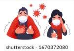 coronavirus in china. people in ... | Shutterstock .eps vector #1670372080