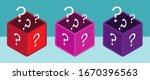 mystery box or random loot box... | Shutterstock .eps vector #1670396563