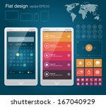ui flat design web elements...