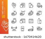 fitness vector line icons set.... | Shutterstock .eps vector #1670414620