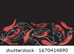 Seamless Pattern With Red Hot...