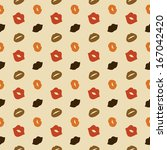Hipster Lips Vector Seamless Pattern, Illustration, Kiss