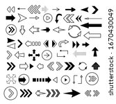 arrows big black set icons.... | Shutterstock .eps vector #1670430049