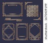 art deco vintage invitation...   Shutterstock .eps vector #1670439199