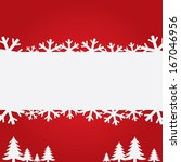christmas background with paper ... | Shutterstock . vector #167046956