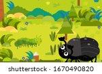 cartoon scene with different... | Shutterstock . vector #1670490820