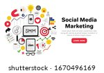 vector background with smm... | Shutterstock .eps vector #1670496169