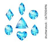 set of colored gems isolated on ... | Shutterstock . vector #167050496