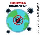 coronavirus outbreak. stay home ... | Shutterstock .eps vector #1670524756