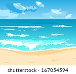 illustration beautiful summer... | Shutterstock . vector #167054594