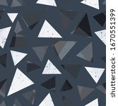 gray triangle seamless pattern... | Shutterstock . vector #1670551399