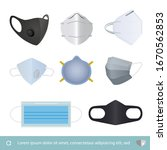 set of protection mask  medical ...   Shutterstock .eps vector #1670562853