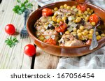 baked chicken with chickpeas...