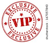 grunge exclusive vip rubber... | Shutterstock .eps vector #167057840