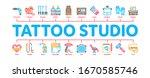 tattoo studio tool minimal... | Shutterstock .eps vector #1670585746