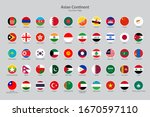 asian continent countries flag... | Shutterstock .eps vector #1670597110