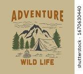 adventure wild life. vintage... | Shutterstock .eps vector #1670630440