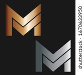 m logo. font vector. bold icon. ...