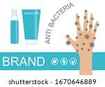 anti bacterial sanitizer spray... | Shutterstock .eps vector #1670646889