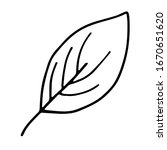 simple hand drawn leaf doodle...   Shutterstock .eps vector #1670651620