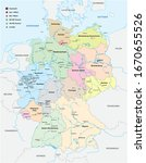 map of germany with all cities...   Shutterstock .eps vector #1670655526