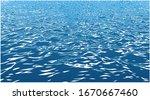 illustration of waves sea ocean ... | Shutterstock .eps vector #1670667460