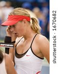 Maria Sharapova, Acura Classic Winner Interviewed, August 6, 2006 - stock photo