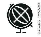 education globe black icon on... | Shutterstock .eps vector #1670686336