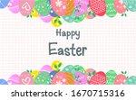 colorful easter eggs background ...   Shutterstock .eps vector #1670715316