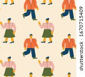 seamless pattern with fashion... | Shutterstock .eps vector #1670715409