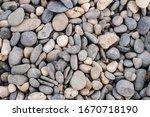 Sea Pebbles. Background Of...