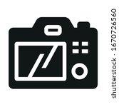 back photo camera black icon on ... | Shutterstock .eps vector #1670726560